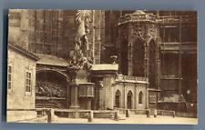 Autriche, Vienne, la cathédrale et le Capistrankanzel Vintage albumen print.