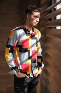 para Camisa hombre de manga larga Jacquard fnwqaCT