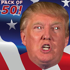 50 DONALD TRUMP PARTY CARD FACE MASKS HEN PARTY BIRTHDAY NIGHT OUT #MP28 P&P!