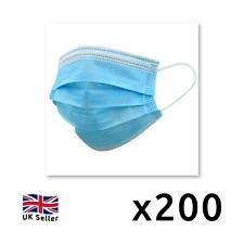 200 x Disposable Protective Face Masks 3 PLY Non Surgical UK Seller Breathable
