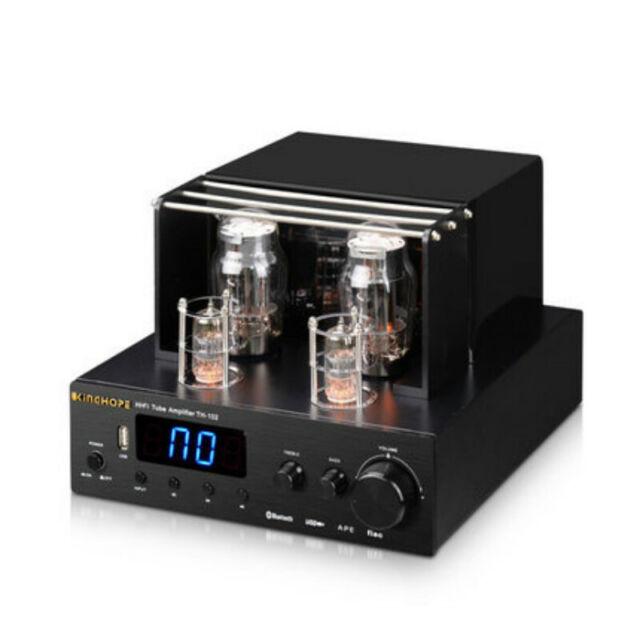 Optical Fiber Coaxial Bluetooth HiFi Valve Tube Amplifier 6N12+6F1 100W*2  TH-102
