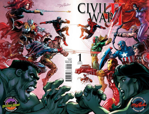 CIVIL WAR II #1 SLEEPING GIANT COLLECTIBLES EXCLUSIVE NEAL ADAMS VARIANT COVER