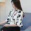 Verano-para-mujer-Floral-Casual-de-Gasa-Manga-a-Mitad-de-Superdry-holgado-Camiseta-Blusa-Camiseta miniatura 7
