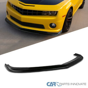 For 10-13 Chevy Camaro V8 Black ZL1 Style Front Bumper Chin Lip Spoiler Body Kit