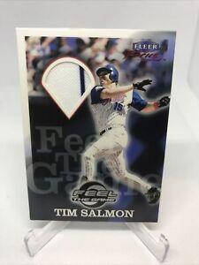 2000 Fleer Focus Feel The Game Tim Salmon Game Used Jersey - Angels MINT - HOF