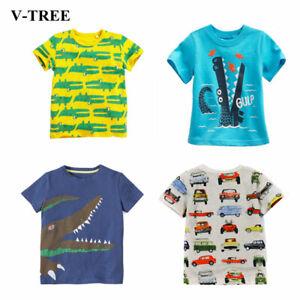 Vente Professionnelle V-arbre Summer Boys Shirts En Coton Enfants T-shirts Colorés Tops Pour Filles Court-afficher Le Titre D'origine