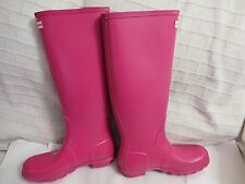 Hunter 'Original Tall' Rain Boot Matte pink (Women)  Sz 8 $150.00