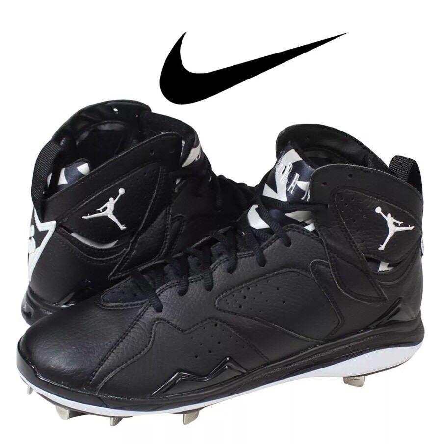 Uomo nike air jordan 7 nuove scarpe da baseball dimensioni vintage di metallo nero / bianco dimensioni baseball 30b20b