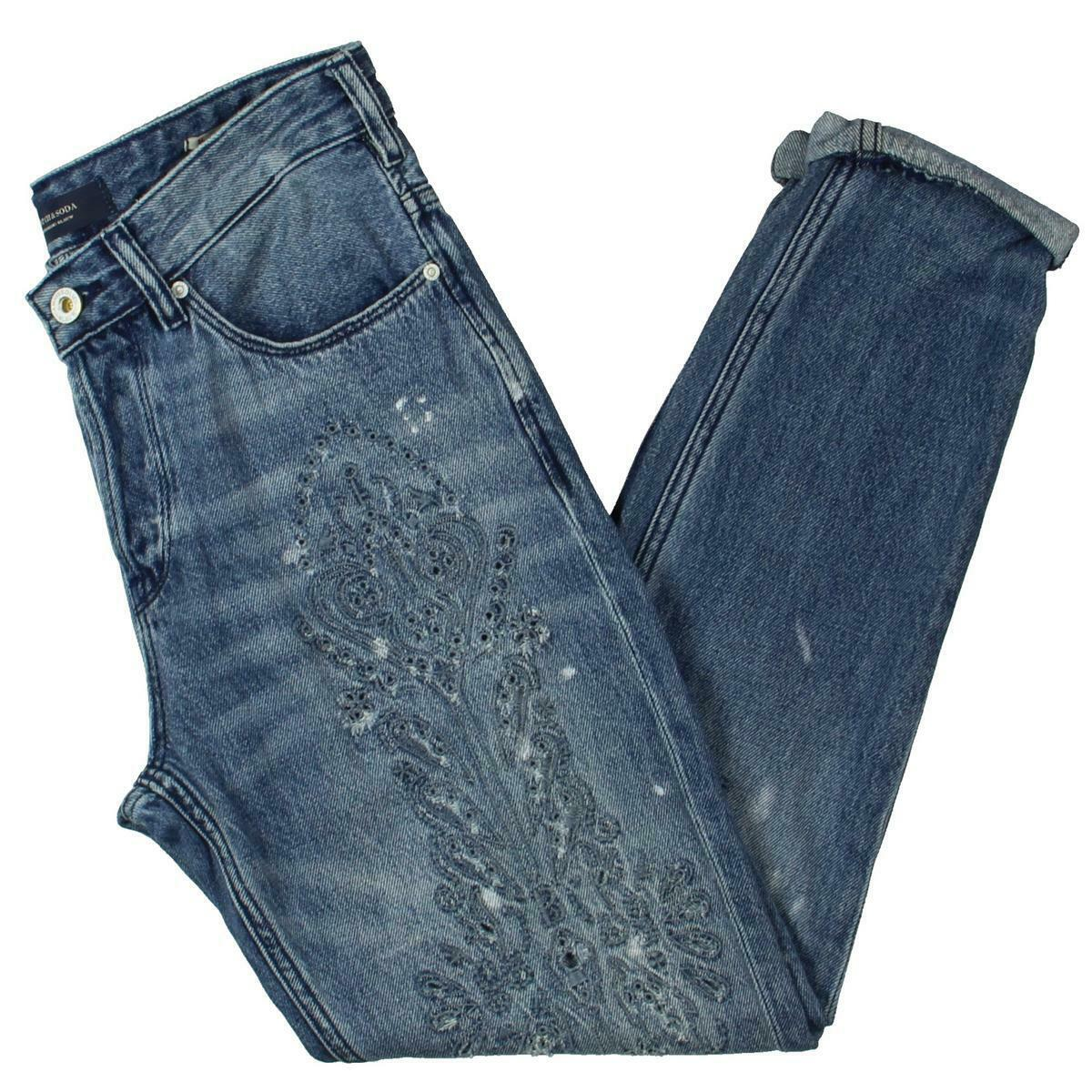 Scotch & Soda Womens L'Adorable bluee Denim Boyfriend Jeans 27 32 BHFO 4995