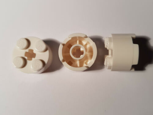 White 6143 #BC05 LEGO® 10 x 3941 Basic Rund Stein 2 x 2  weiß 614301