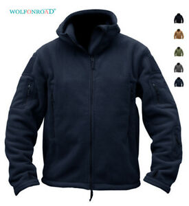 Mens-Fleece-Jackets-Military-Tactical-Hooded-Zip-Up-Coats-Army-Hiking-Sportswear