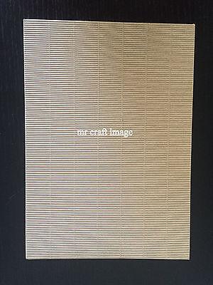 15 xNatural brown A4 Paper Mini Fine Corrugated Ripple Card 210x297mm Cardboard