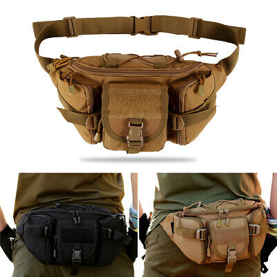 Outdoor Waist Bag Nylon Fanny Pack Large Capacity Tactical Hiking Shoulder Bag