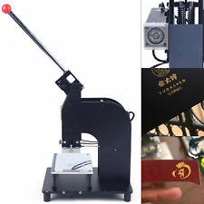 110v Manual Hot Foil Stamping Machine 1015cm Leather Gold Embossing Logo Press
