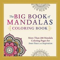 The Big Book Of Mandalas Coloring Book: More Than 200 Mandala Coloring Pages For on sale