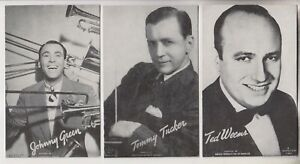 3-VINTAGE-MUTOSCOPE-POSTCARDS-JOHNNY-GREEN-TOMMY-TUCKER-TED-WEEMS