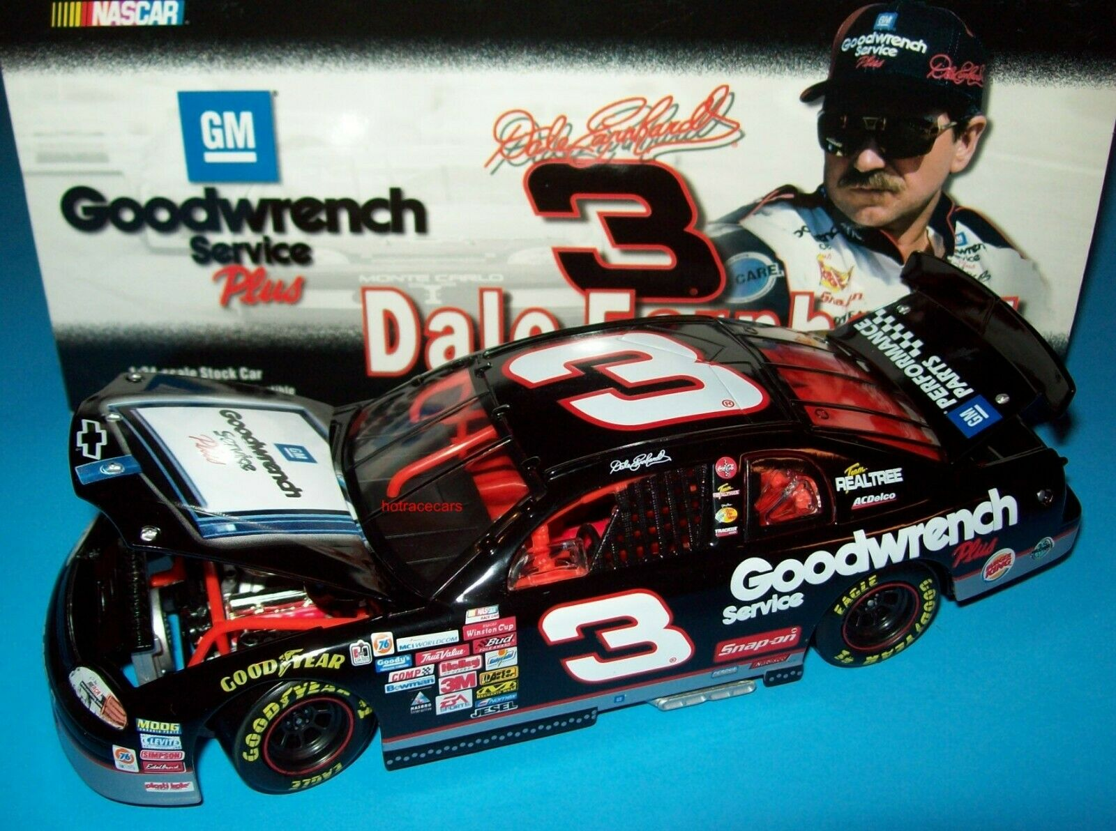 Dale Earnhardt 1999 GM Goodwrench Service Sign RCR Chevy 1 24 NASCAR Diecast