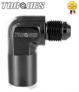 AN-6-6AN-JIC-90-Degree-Quick-Connect-5-16-034-Female-Fuel-Line-O-E-adapter-BLACK