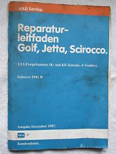 109€B+Scirocco 16V KR+PL Motor+Einspritzung+Zündung+Schaltplan Reparaturhandbuch