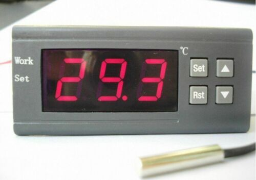 50 to 110℃ Thermostat Control Relay Digital Temperature Controller Temp Sensor