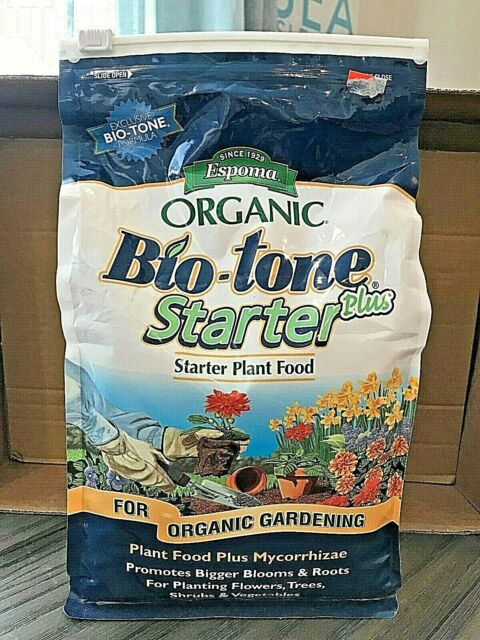 ESPOMA ORGANIC BIO-TONE STARTER PLUS PLANT FOOD FOR ORGANIC GARDENING 4 LB BAG