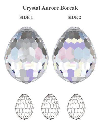 Genuine Swarovski 6002 Disco Pendentif Cristal Aérographe 15x11.5mm