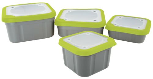 Matrix Grey//Lime Bait Boxes 1,1pt 3,3pt /& 2,2pt 1ltr Compact Solid Top 2,2pt