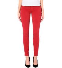 GENETIC £160 Red Stem Mid Rise Skinny Jeans  Sz 10 W28/USA 26 MM38designer