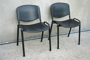 Eccezionale coppia di sedie da ufficio nere ebay