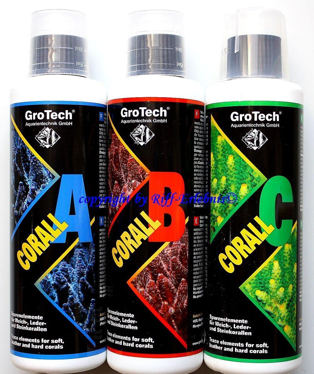 GroTech Corall A B C Set 3x500ml Gro Tech verbesserte Rezeptur  L