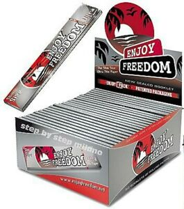 Enjoy-Freedom-Box-Cartine-Silver-Lunghe-1600-Cartine-50-Libretti-32-Foglietti