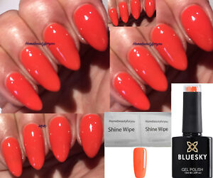 BLUESKY-GEL-POLISH-CORAL-ORANGE-DESERT-POPPY-80568-NAIL-LED-UV-SOAK-OFF-2-FILE