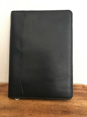 New Winn-International Black Leather Portfolio