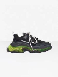 Green Clear Sole Black Sneaker Size