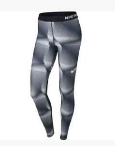 Nike-Pro-Ladies-Women-039-s-Tights-Black-grey-Small-898102-010