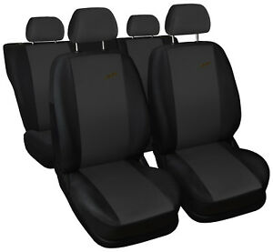 Car seat covers fit Vauxhall Corsa XR black//dark grey sport style