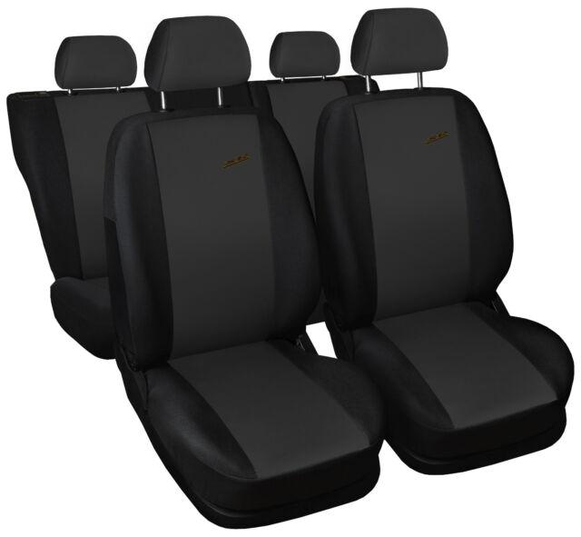 Schwarz blau Effekt 3D Sitzbezüge PEUGEOT EXPERT Autositzbezug SET 1+2