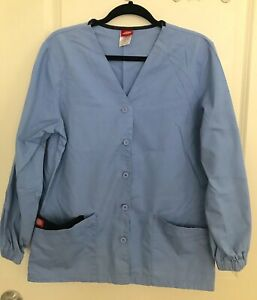 Dickies Scrubs Women's Warm Up Jacket Baby Blue Size S