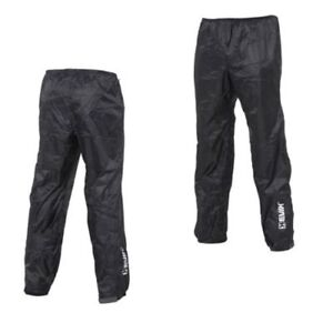 Energetic Richa Rain Warrior Over Trousers Waterproof Motorcycle Bike Pants Jeans Black Motorcycle Street Gear