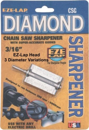 EZE-Lap Diamond Chainsaw Sharpening Heads Multiple Variations USA
