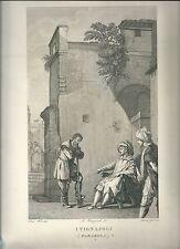 1820ca PARABOLA VIGNAIOLI Domenico Fétti Féti Lasinio figlio incise