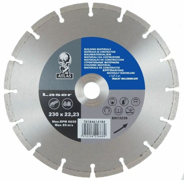 Atlas Universal Cutting Disc  300 X 20  EN 13236  *FREE P&P*
