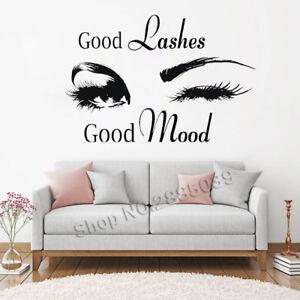 2c9d047ca9d Good Lashes Beauty Salon Wall Stickers Decal Eye Eyelashes Vinyl ...
