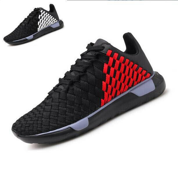 Casual Men Running Lightweight Weave Lace-up Breathable Sneakers Trainers shoes