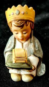 Vintage GOEBEL NATIVITY FIGURINE Kneeling Wiseman #4-  W Germany 1950's