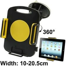 Yellow Windshield Car Mount Holder for Universal Tablet Ipad Air Kindle Fire HDX