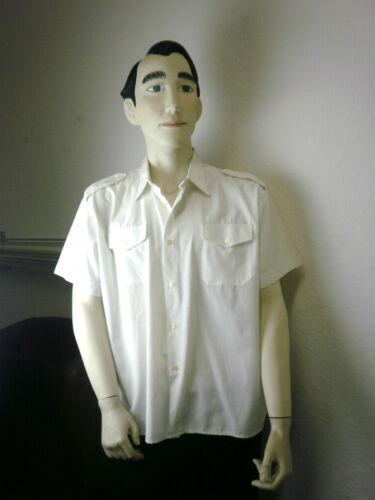Vintage Veb Vintage 60s Homme Ddr Rockabilly Permaflott 60s T Blanc Gdr shirt Shirt xq0XAX
