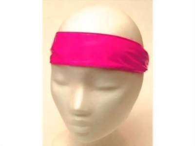 Caritatevole Nuovo Fascia Per Capelli Nastro Frontale In Rosa Headband 5cm Larga Elastico Taglia Unica-mostra Il Titolo Originale
