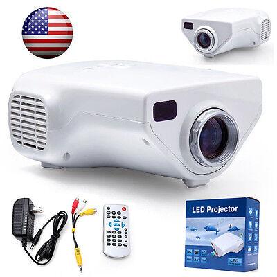 Mini 1080P HD Protable LED Projector Cinema PC&Laptop AV TV VGA HDMI input