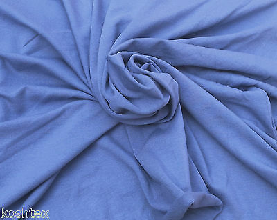 "Rayon Spandex Fabric Jersey Knit By the Yard - AIR BLUE 050  61""W 4/15"